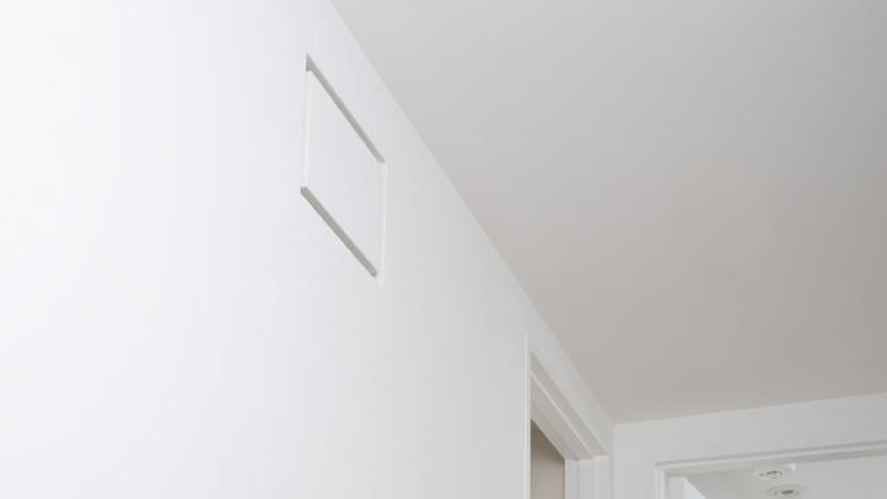 Aria Drywall Pro - Air Return showing a seamless look in ceilings and walls to match your drywall finish.